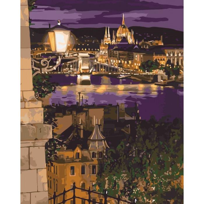 Картина по номерам 40*50 см. Идейка (без коробки) Магические краски Будапешта (КНО 3534)