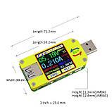 Оригинал от RIDEN ! Многофункциональный USB тестер RUIDENG  UM34 без Bluetooth , USB 3.0 осциллограф, фото 4
