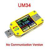 Оригинал от RIDEN ! Многофункциональный USB тестер RUIDENG  UM34 без Bluetooth , USB 3.0 осциллограф, фото 2