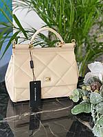 Ексклюзивна жіноча сумочка DOLCE&GABBANA 'Sicily' натуральна шкіра (репліка), фото 1