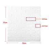 Самоклеюча 3D панель Чорно-помаранчева цегла, декоративні стенові 3Д панелі, фото 4