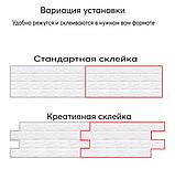 Самоклеюча 3D панель Чорно-помаранчева цегла, декоративні стенові 3Д панелі, фото 5