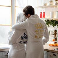 Натуральный махровый халат 100% хлопок с индивидуальным логотипом парные халаты с капюшоном и воротник