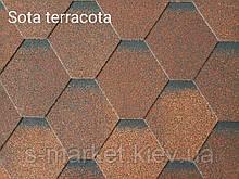 Битумная черепица RUFLEX Sota Терракота, 3м2