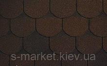 Битумная черепица RUFLEX Ornami Темный шоколад, 3м2