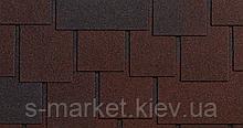 Битумная черепица RUFLEX Dranka Тёмный Шоколад Экстра, 2,8м2