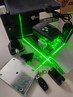 ОТКАЛИБРОВАН! НОВИНКА 2021 ЗЕЛЁНЫЙ ЛУЧ 50м Лазерный ударопрочный нивелир DEKO 3D LL-12-GTD green