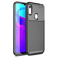 Чехол Carbon Case для Honor 8A / 8A Pro / Huawei Y6s Black