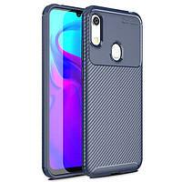 Чехол Carbon Case для Honor 8A / 8A Pro / Huawei Y6s Blue