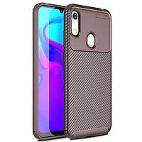 Чехол Carbon Case для Honor 8A / 8A Pro / Huawei Y6s Brown