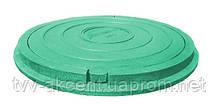 Люк садовый легкий полимерпещаный  А15  (зеленый) 730х50 мм