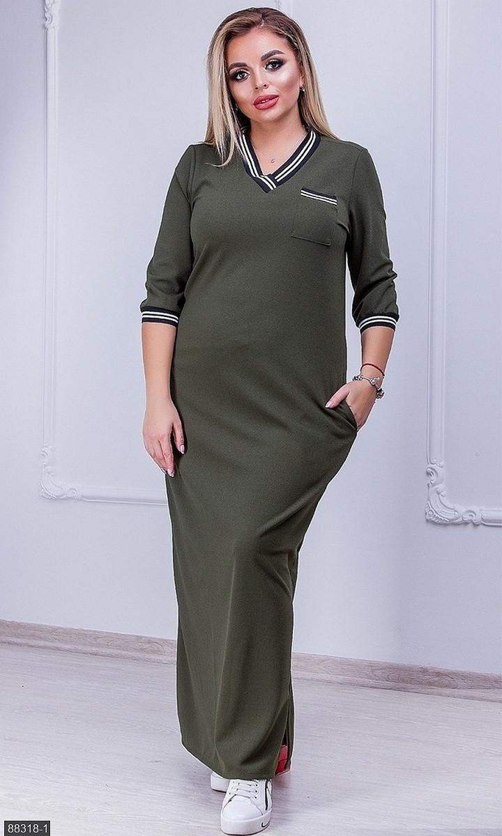 Тепле ангоровое плаття великого розміру