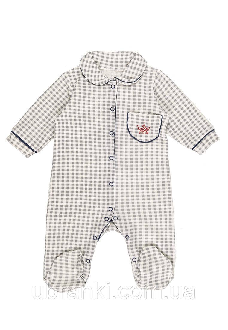 Человечек для новорожденных из натурального полотна