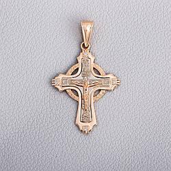 Золотой крестик с фианитами П03107