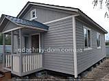 Каркасний дачний будинок 6*8 c ганком.З надійних матеріалів!, фото 5