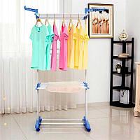 Вешалка-стойка, сушилка, органайзер для вещей Spray Painting Clothes Hanger до 40 кг 364-CR, фото 1