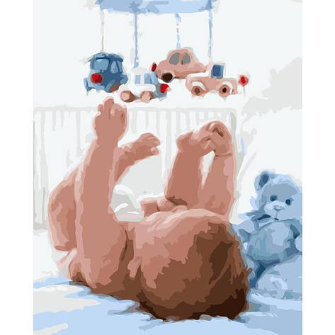 Картина по номерам VA-0886 Младенец с подвесными игрушками, 40х50 см Strateg, фото 2