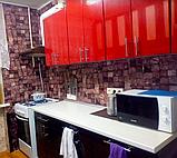 Самоклеюча декоративна 3Д панель стінова, 3D панелі самоклейки Бруси, фото 3
