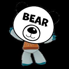 """Наклейка на кулю 18"""" Ведмедик білий"""