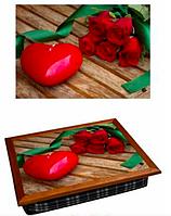 Поднос на подушке для завтрака 36,5х44,3х9,5 см Подарок любимой