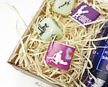 """Набор для взрослых """"Позы любви и 100 наших желаний"""" - 100 пикантных заданий, кубики с позами, шоколад камасута, фото 7"""