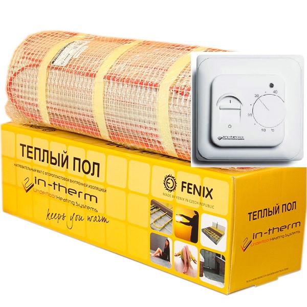 6,4м2 Нагрівальний мат In-Therm ECO FENIX Чехія на 6.4 м. кв для теплої підлоги