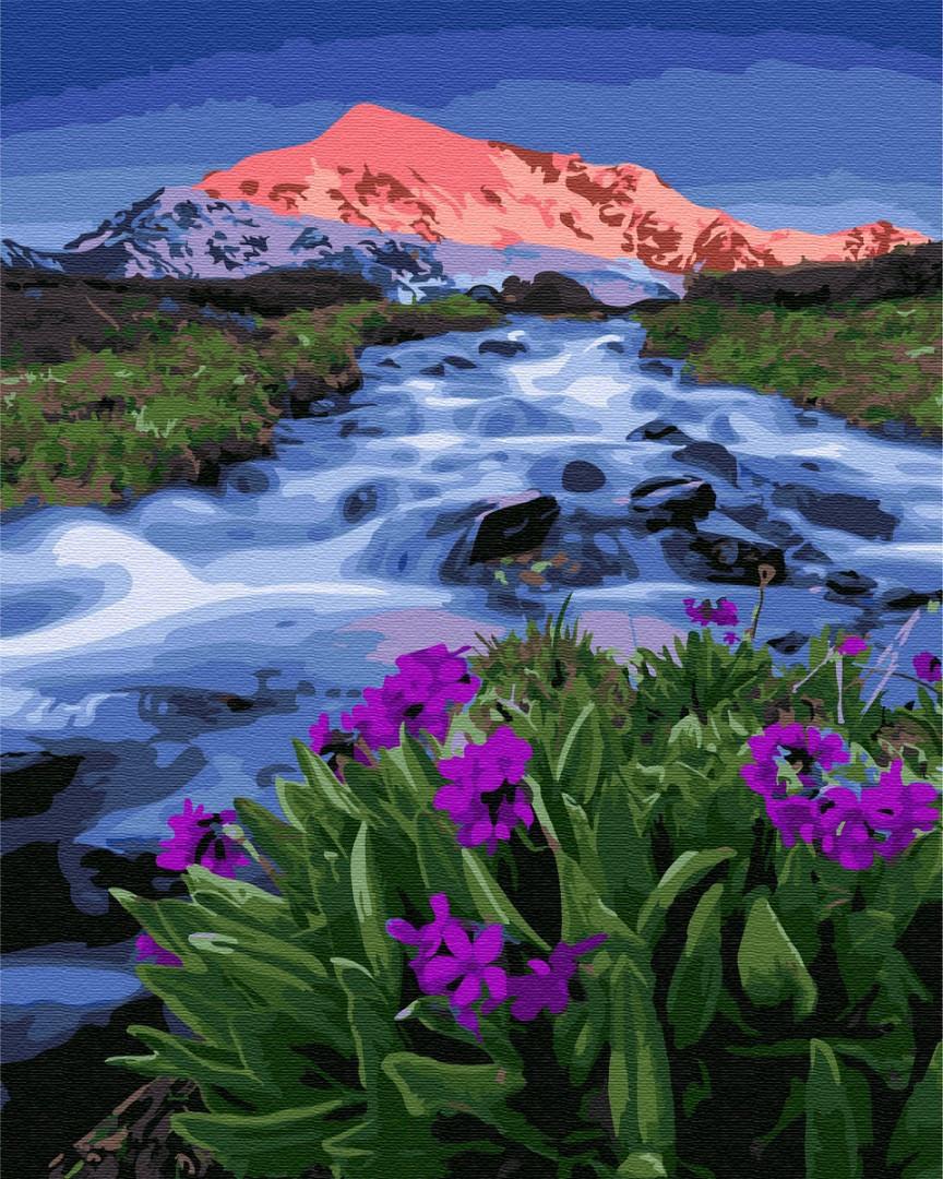 Картина по номерам 40х50 см Brushme Весна у подножья гор (GX 33321)