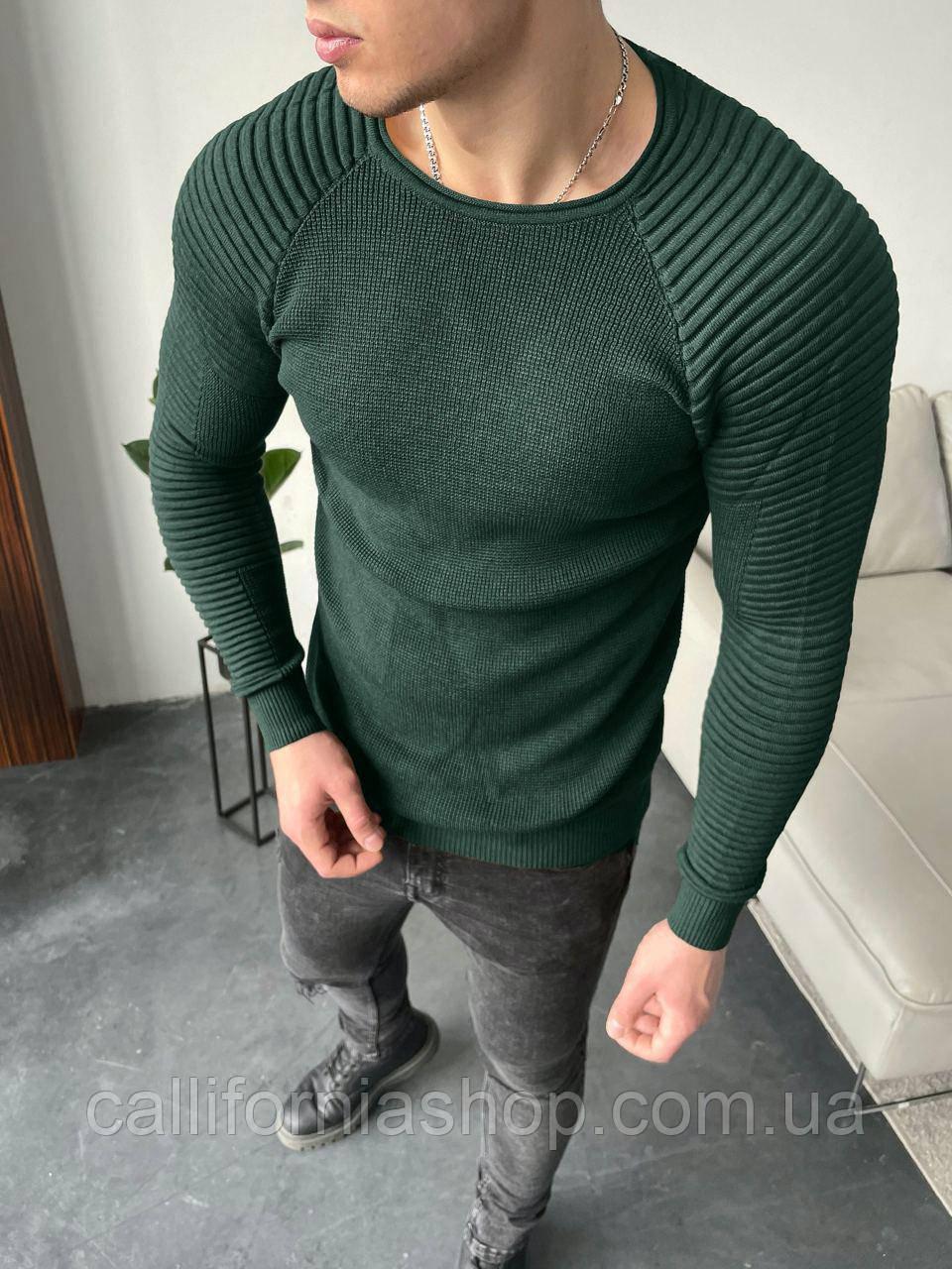 Свитер мужской стильный зеленого цвета Турция