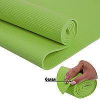 Йога мат (килимок для фітнесу і йоги) Щільний спортивний килимок (каремат) yoga mat Зелений
