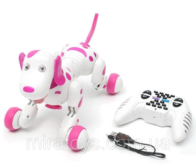 Робот-собака 777-338 Рожева на радіоуправлінні. Виконує понад 20 команд