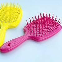 Гребінець для волосся Janeke 1830 Superbrush, малинова