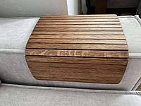 Дерев'яна накладка, столик, килимок на підлокітник дивана. Дерев'яний килимок на столик.