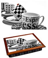 Поднос для завтрака кофейный столик 36,5х44,3х9,5 см Кофейный сервиз
