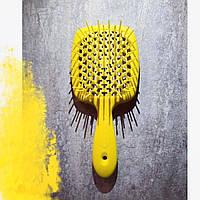 Гребінець для волосся Janeke 1830 Superbrush, лимон, фото 1