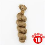 Волосы для кукол кудрявые русые 15см, фото 2