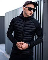 Куртка мужская демисезонная весенняя осенняя до +5*С North черная | Ветровка утепленная мужская ЛЮКС качества