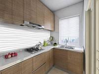 Панелі на кухонний фартух ПЕТ 3д хвилі під гіпс, на двосторонньому скотчі 68 х 305 см