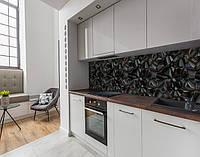 Панель кухонні, замінник скла текстура з 3д камінням, з двостороннім скотчем 62 х 205 см
