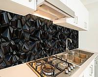 Кухонний фартух замінник скла текстура з 3д камінням, на двосторонньому скотчі 68 х 305 см
