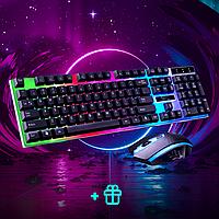 Комплект клавиатура и мышка UKC с LED подсветкой KEYBOARD Combo Gamer K 01+ПОДАРОК коврик