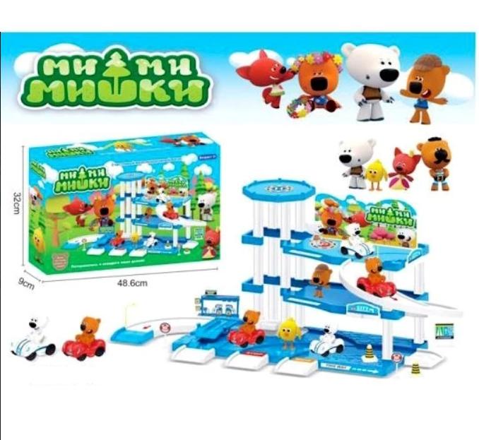 Величезний ігровий набір Ведмедики мі-мі-ведмедики Парковка зимова ABC