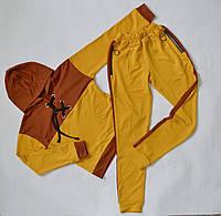 Спортивный костюм для девочки от 9 до 15лет, детский подростковый, горчица