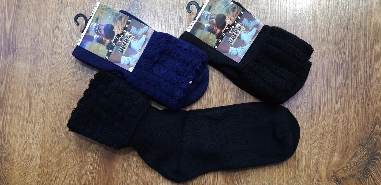 """Жіночі теплі шкарпетки з відворотом,вовна""""Boot Socks""""Туреччина 36-40"""