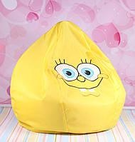 Детское кресло-мешок Губка Боб, кресло Спанч Боб, 42 см.