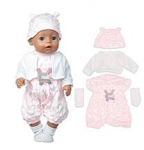 Набор одежды для куклы комбинезон кофточка шапочка носочки Беби Борн Беби Анабель