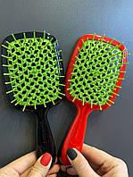 Гребінець для волосся Janeke 1830 Superbrush, червона з зеленим