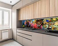 Панель на кухонний фартух під скло з морськими глибинами, з двостороннім скотчем 62 х 205 см