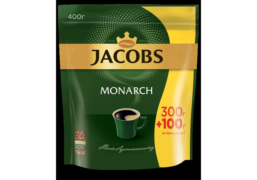 Кофе растворимый сублимированный  Якобс Монарх, 400г