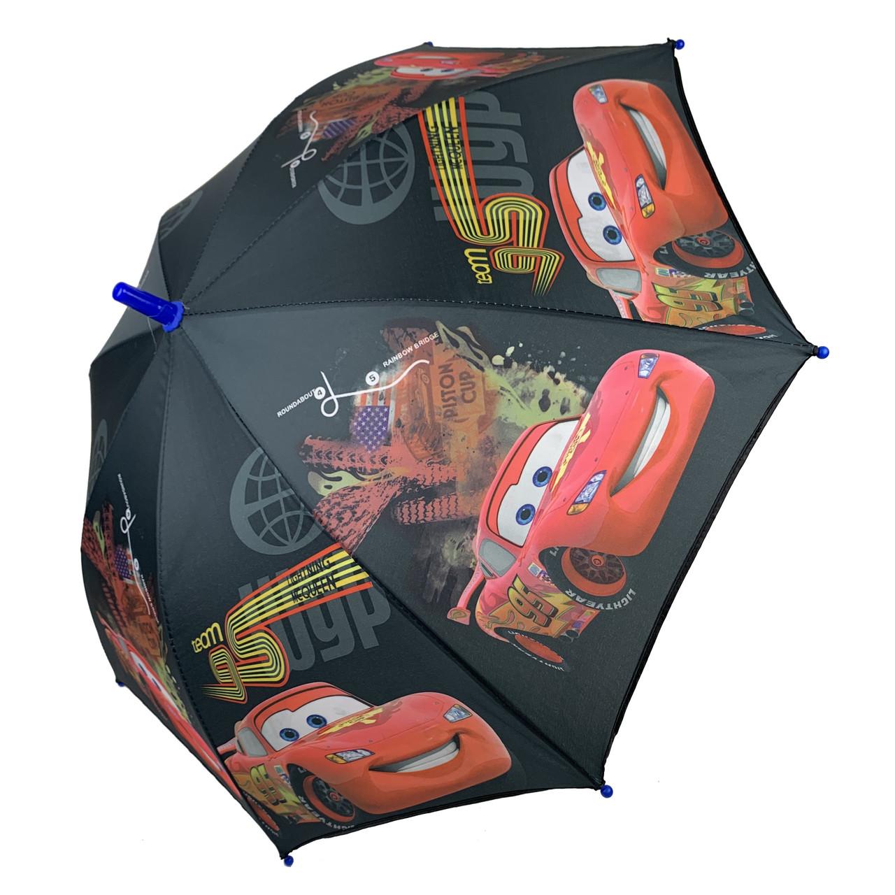 """Детский зонтик-трость """"Тачки"""" от Paolo Rossi, черный, 090-6"""