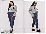 Жіноча піжама фліс + махра ( Туреччина ) Розміри 42.44.46.48.50., фото 2